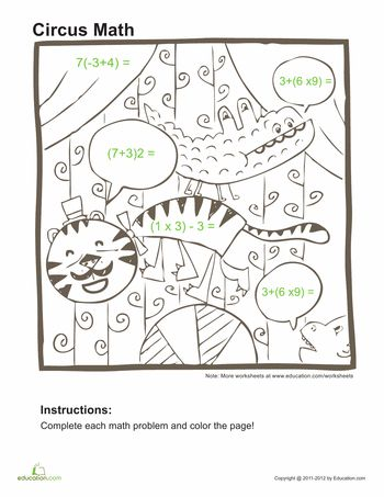 34 best order of operations images on Pinterest Order of - order of operations worksheet