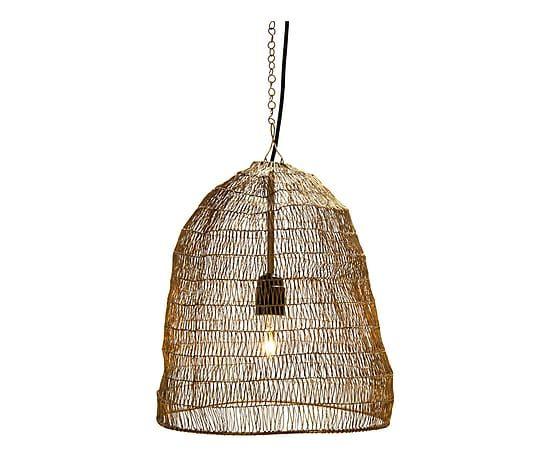 Hanglamp Emma, messingdraad, Ø 32 cm