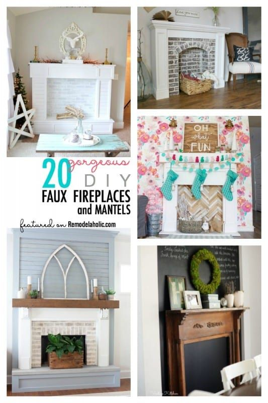 No Fireplace Create Your Own Here Are 20 Diy Faux