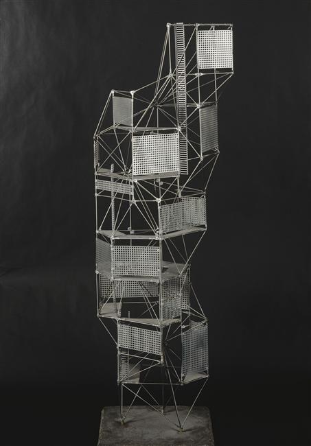constant nieuwenhuys, new babylon: toren, 1959 (via Réunion des musées nationaux)