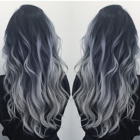 "Hot on Beauty on Instagram: ""Smoky Blue Silver by @dianashin #hotonbeauty #beautymagazine #featurepage Hot Beauty Magazine"" I want this color! More"