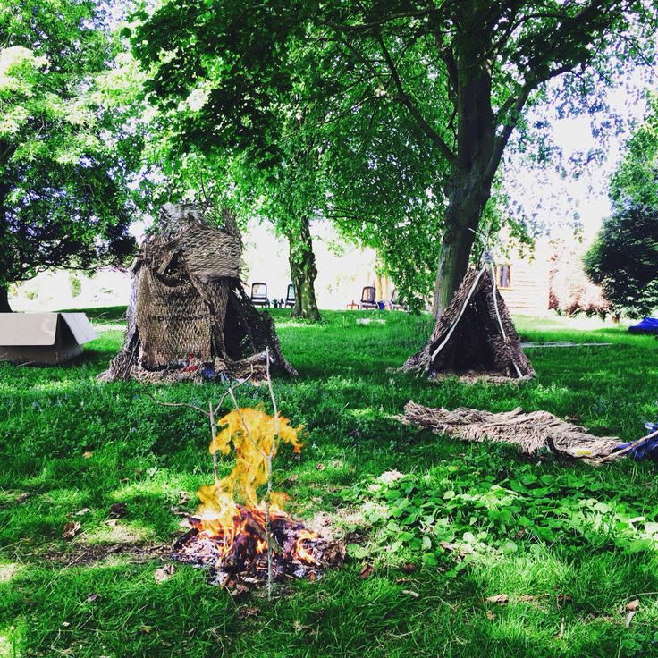 Campfire and dens in England
