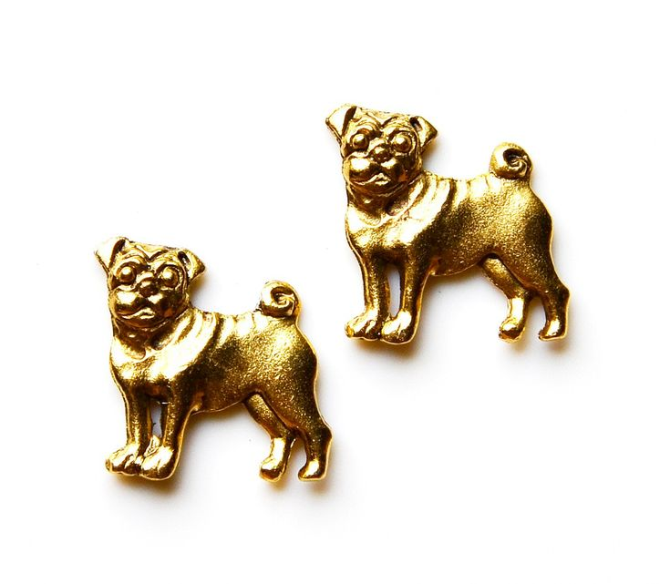 Pug Cufflinks - Gifts for Men - Anniversary Gift - Handmade - Gift Box Included by Mancornas on Etsy