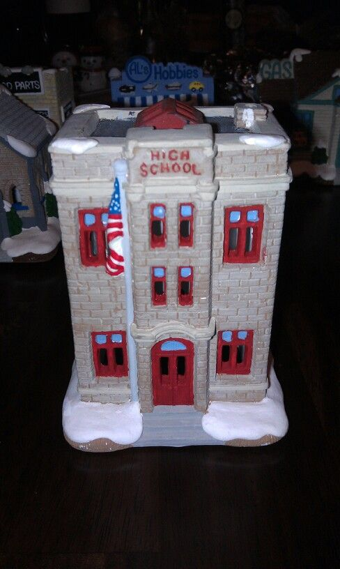 Village on pinterest christmas villages plaster and hand painted
