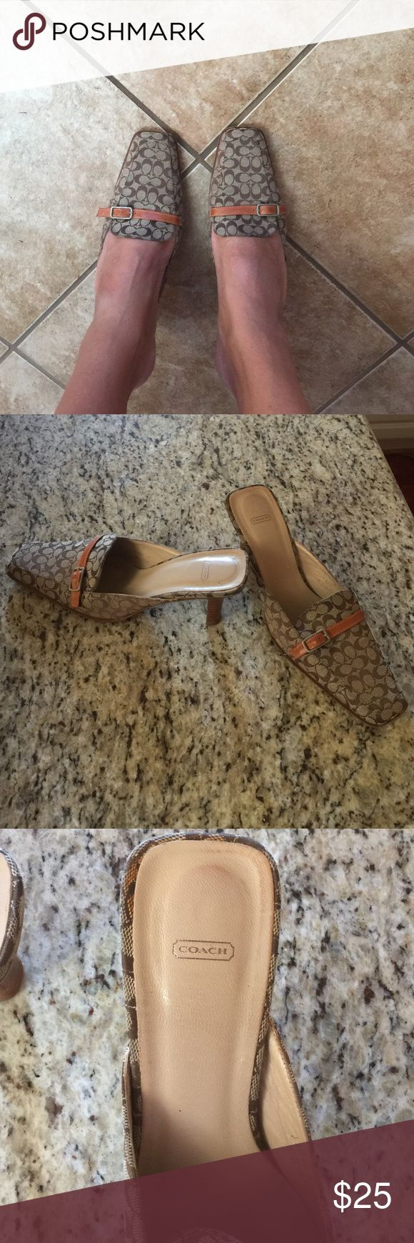 Coach loafer high heel. Signature Coach Italian loafer. Coach Shoes Heels