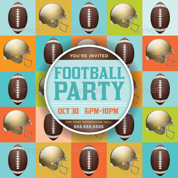 Vector Football Pattern Party Invitation ...  american, background, college, college football, copy space, equipment, fantasy football, first down, flyer, football, game, grass, gridiron, helmet, illustration, invitation, nfl, party, pattern, photo realistic, play, poster, sport, superbowl, tailgating, team, touchdown, turf, vector, yard