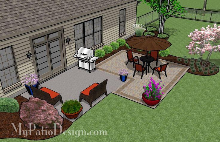 Square Paver Patio Addition | Patio Designs and Ideas