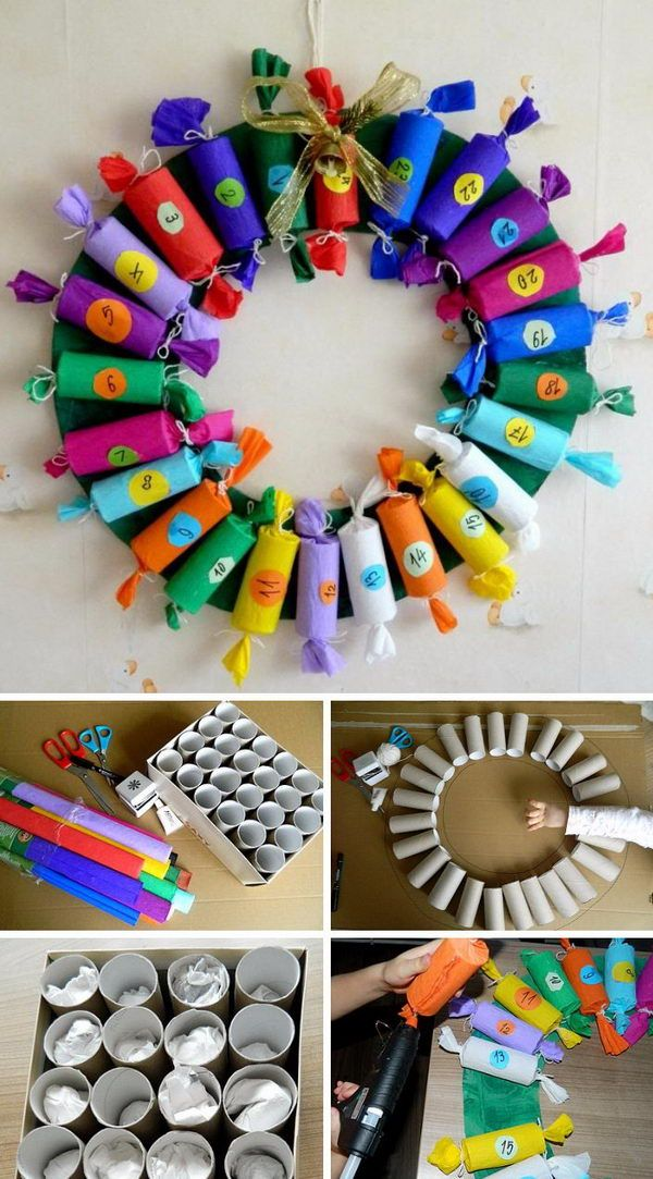 Toilet Paper Roll Advent Calendar. Homemade advent