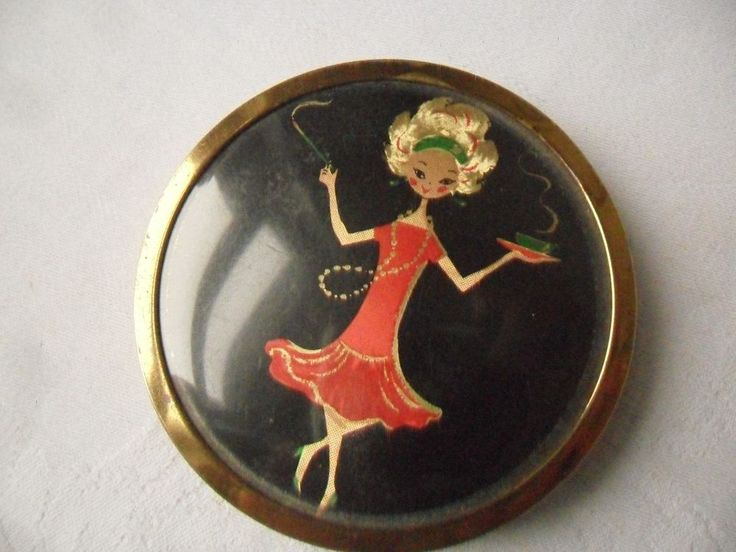 Vintage Mascot Powder Compact #Compacts
