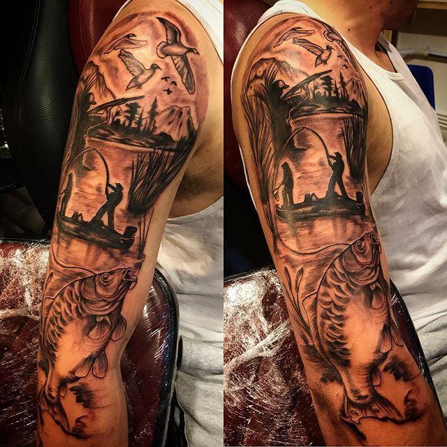 Tatuaj Pescuit Hunting Tattoos Tattoos Duck Hunting Tattoos