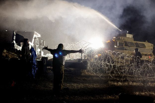 The Standing Rock protests against the Dakota Access Pipeline (#NoDAPL) happening at the Sacred Stone Camp near Cannon Ball, North Dakota, have been in and out of News Feeds on Facebook for months, but they made headlines again as things took a violent turn this weekend.