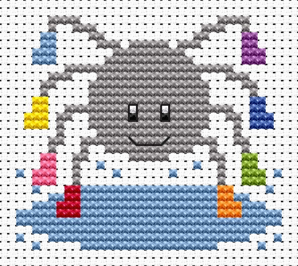 Sew Simple Spider cross stitch kit
