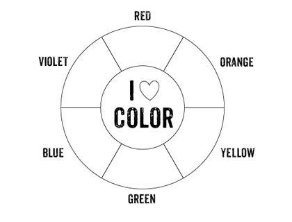 Printable Color Wheel Mr Printables Homeschool Pinterest