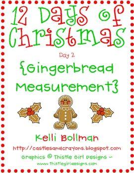 Gingerbread Measurement {FREE}