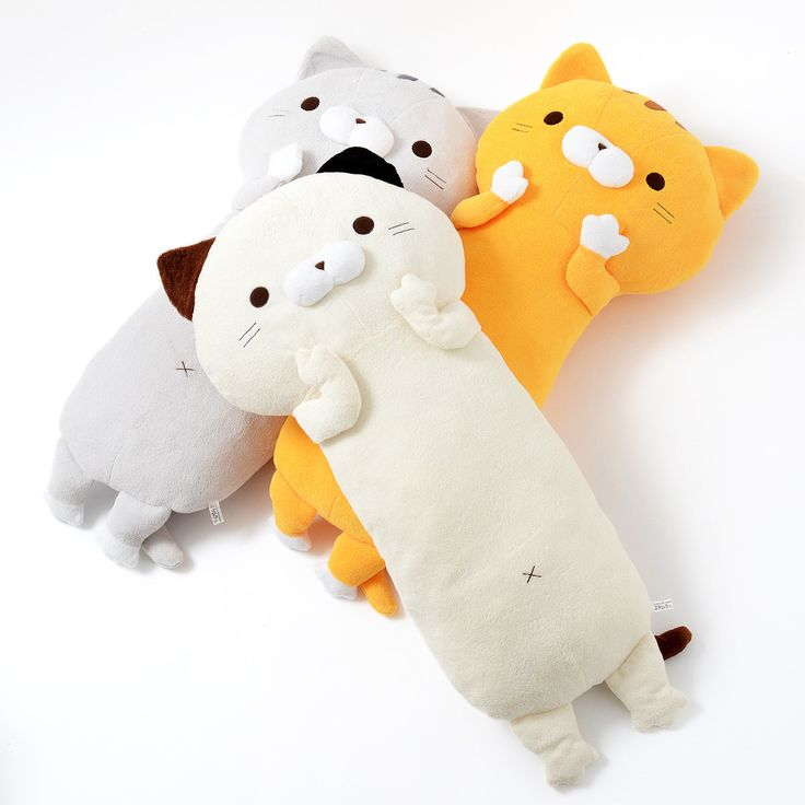 "**Big Pillow** or **hug pillows** such as **Mikemura-san**, **Toramachi-kun**, or **Amemori-kun** can make you sleep more comfortably if you need something to hug or just rest your knee on. **40.6"" long**, **11.8"" wide** and **9.8"" thick**, these huge kitties will always be happy to get a hug!"