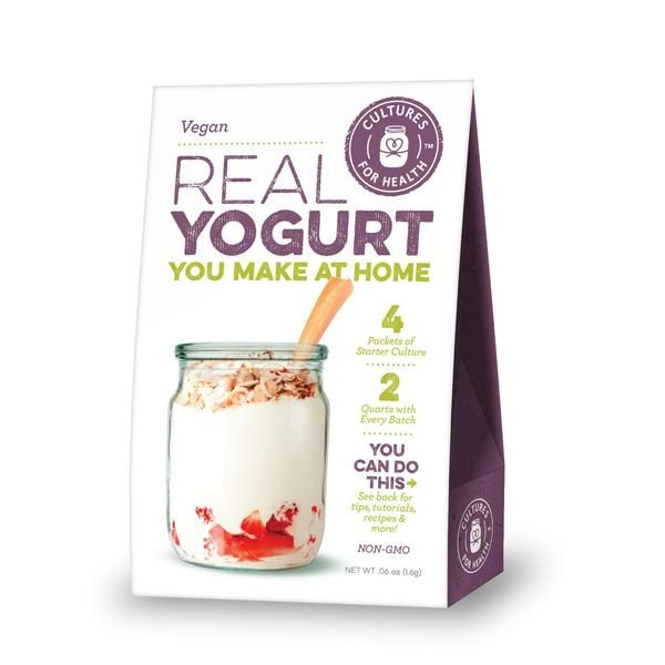 Cultures For Health Real Vegan Yogurt Starter - 4 Packets