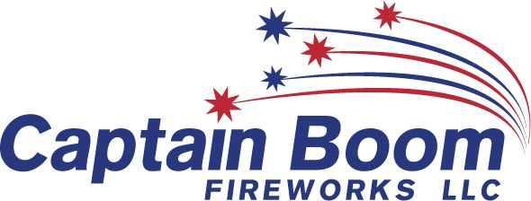 Logo of Captain Boom Fireworks LLC, A store to buy fireworks online for consumers and wholesale.