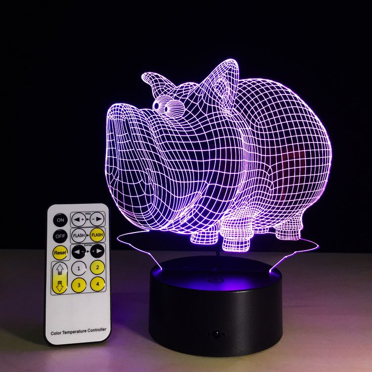 colorful pig 3d LED Night Lights 5V USB Creative Small Acrylic led table Lamp Touch Remote //Price: $18.95 & FREE Shipping //     #hashtag1