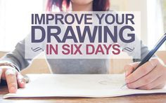 Improve Your Drawing Skills In 6 Days - super helpful guide to get you going in Bible journaling/drawing!