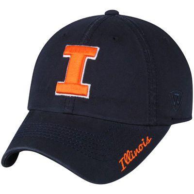 Women's Top of the World Navy Illinois Fighting Illini Crew Adjustable Hat