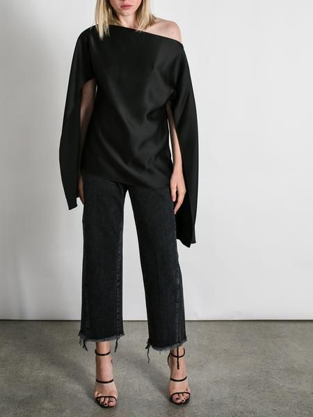CHRISTOPHER ESBER Ilona open sleeve blouse top black   The UNDONE  20% OFF - BLACK FRIDAY SALE*   CODE: BLK FRI   *Exclusions Apply. Terms and conditions apply.