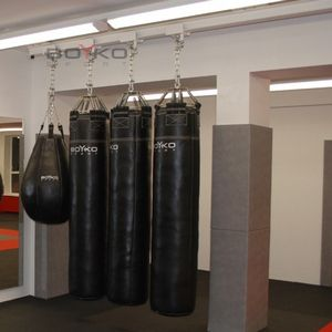 """Боксерские мешки на рельсе в """"сложенном виде"""" #бойкоспорт, #бокс, #кикбонсинг"""