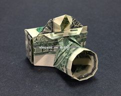CAMERA Dollar Bill Origami Money gift for Photographers Photo Agency Cash