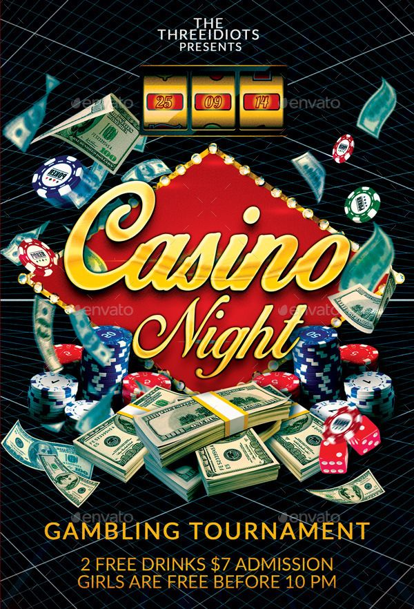 57 Best Casino Images On Pinterest Flyer Template Event Flyers