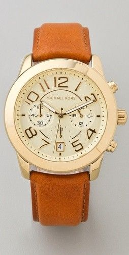 @Skye Crane make this happen for me.: Leather Watches, Wish Lists, Men'S Watches, Yes Pleas, Mk Watches, Michael Kors Watches, The Band, Chronograph Watches, Leather Band