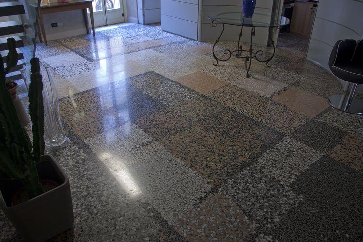 terrazzo floor Klee design
