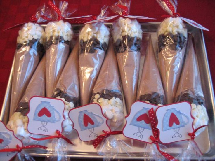 Hot Chocolate Cones - Perfect wedding favor for a winter wedding.