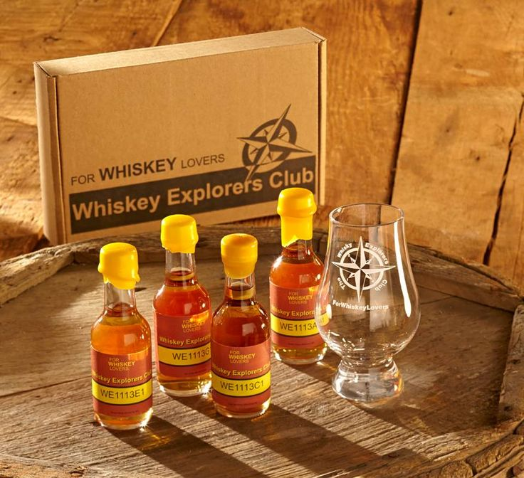 Sample the finest whiskeys with a quarterly whiskey subscription box delivery from the For Whiskey Lovers Whiskey Explorers Club.