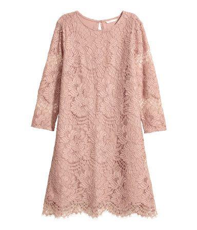 Short lace dress | Powder pink | LADIES | H&M ZA