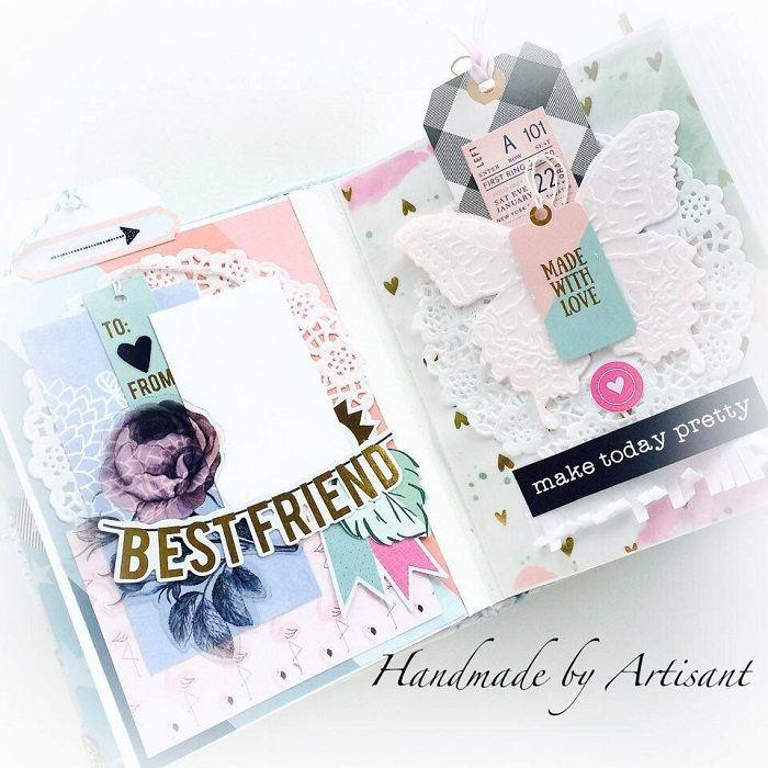 Beautiful mini album by @anetamagdalenam for @sugarmaplepaperco using the Funnel Cake Kit!