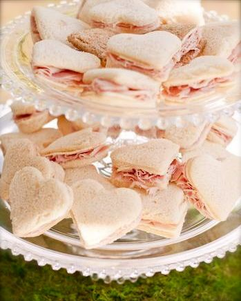Heart Shaped Sandwiches......easy and cute for every Party :-D Provided by Barefoot And Beautiful