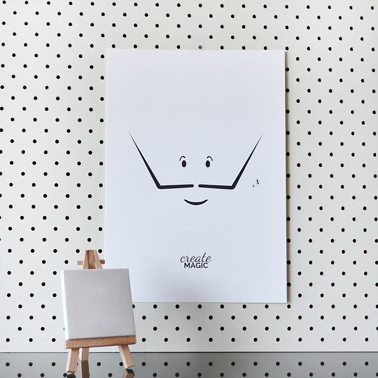 The print from our new collection Little Artist is now available in our Etsy shop :) This collection was inspired by my favourite artist Salvador Dali and is for little artists everywhere ;)
