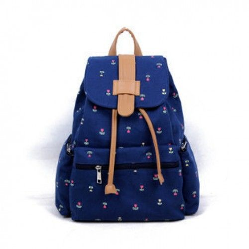 Vintage Dark Blue Floral Anchor Backpack for only $24.99 ,cheap Fashion Bags online shopping,Vintage Dark Blue Floral Anchor Backpack Construction: Top handle. Fold-over flap. Drawstring. Front zippered pocket. Two side pockets. A zippered patch pocket at the back of the bag.