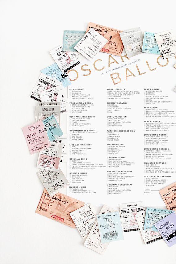 87th oscar printable ballots