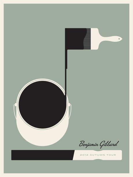 Ben Gibbard tour poster by Jason Munn
