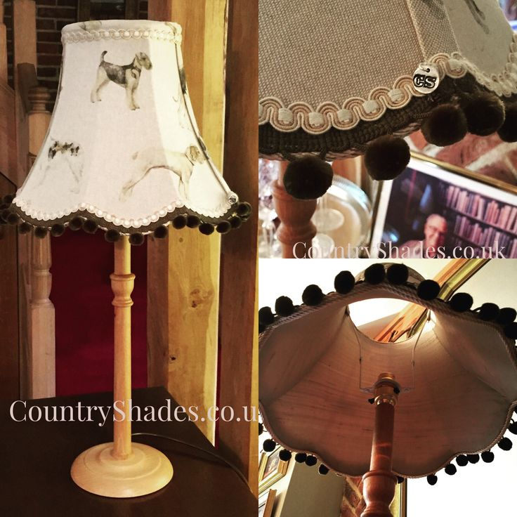 Traditional lamp base and lampshade - finished with our real 'silver' button. #themarkofquality #lampshademaker #luxurygoods #housetohome 