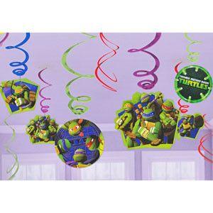 Teenage Mutant Ninja Turtles Foil Swirl Decorations   12 ct