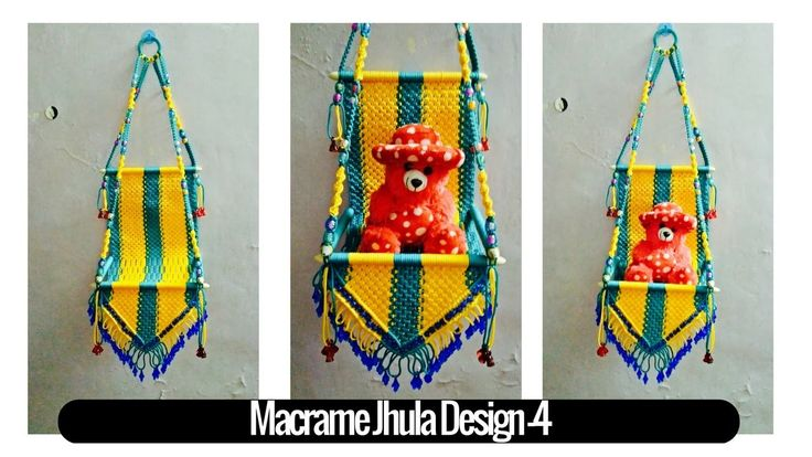 DIY simple tutorial of Macrame Jhula Design 4 | Macrame Art