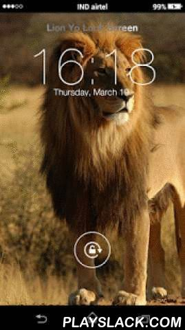 Lion Yo Locker HD  Android App - playslack.com ,  Lion Yo Locker HD, You can use it as My Name Screen Lock. It means you can write your own name over the lock screen