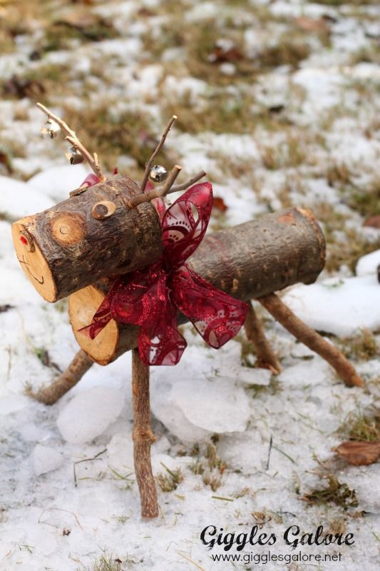 Rudolph The Wooden Reindeer Wooden Reindeer Homemade