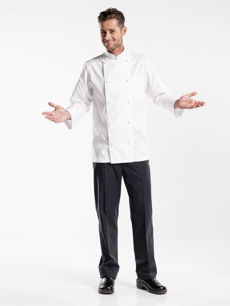 #206 Chef Jacket Diamond - Beau Rocher is Chaud Devant's most exclusive collection. It is characterised by the use of high quality cotton of fine-combed threads with an anti-crease finish and soft touch for maximum comfort. The finish also exudes luxury. From the handmade fabric buttons to the satin trim on the inside, the Chef Jacket Diamond creates the ultimate chic and professional impression.  Straight Fit Visible fastening - Handmade buttons The ultimate chef jacket
