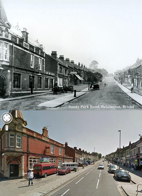 Bristol Then & Now - Sandy Park Road, Brislington. Not fancy, but big in my heart