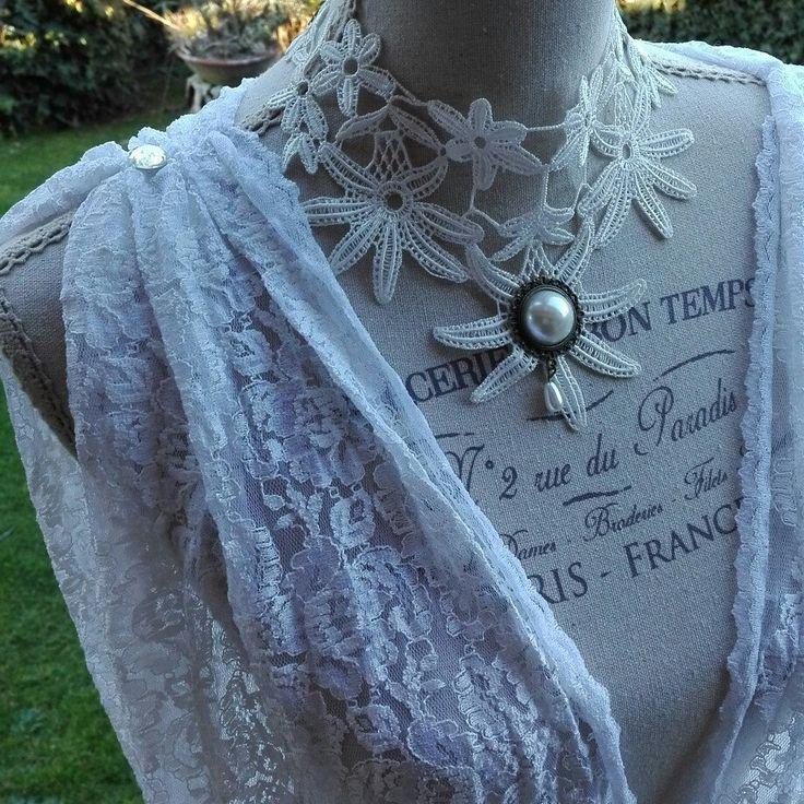 Camicia da notte shabby chic vintage bianco pizzo sensuale sexy nightgown woman White