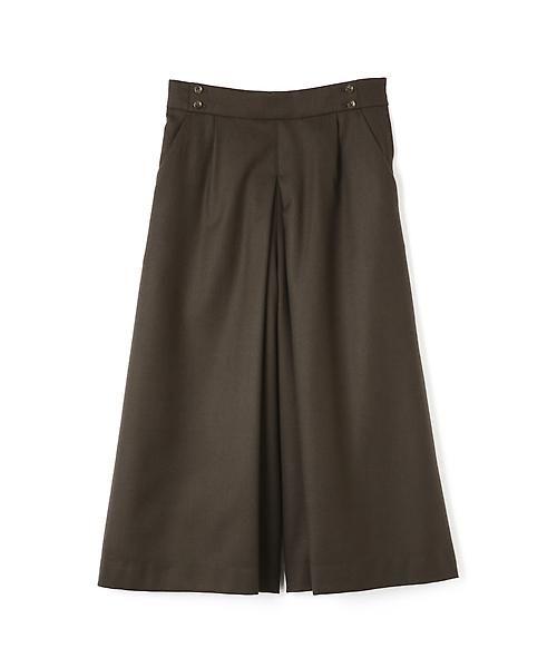HUMAN WOMAN / ヒューマンウーマン スカート | 2/60ハイカウントサキソニー スカーチョ(チャコールグレー)