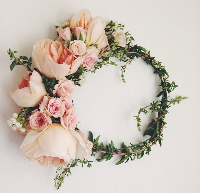 peony & rose flower crown