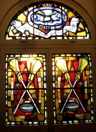 Now THIS is BEAUTIFUL!  WOW!  @Matt Valk Chuah Royal Montreal Curling Club... Stained Glass